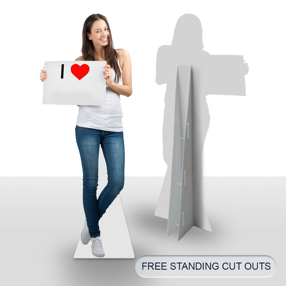6 post FREE STANDING CUT OUTS